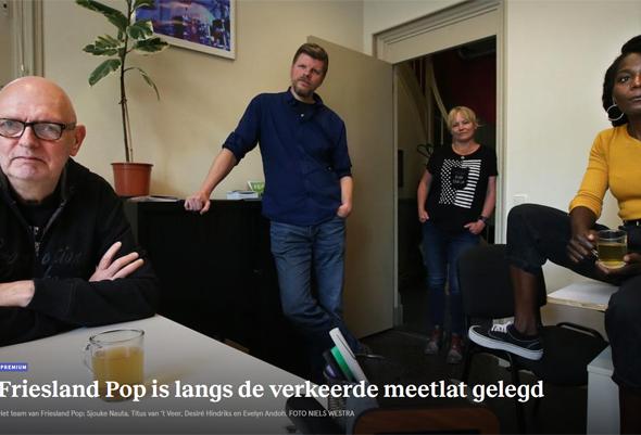 Mogelijk einde van Friesland Pop